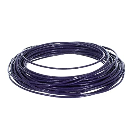 Blue leather Round cord  2.0 mm round sold lengths of 2,3,4,5 metres