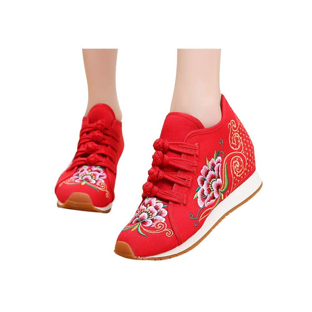 Chaussures de de Broderie de de Fleurs Rouge de Style Chinois Rouge f5065da - boatplans.space