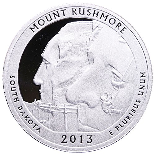 2013 S America the Beautiful South Dakota Mount Rushmore Silver Proof Quarter PF1