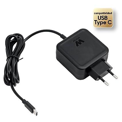Woxter Adapter 45C - Alimentador de portátil de 45 W con Conector USB Tipo C, Negro