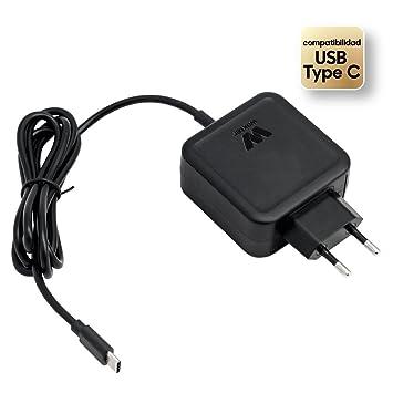 Woxter Adapter 45C - Alimentador de portátil de 45 W con Conector USB Tipo C,