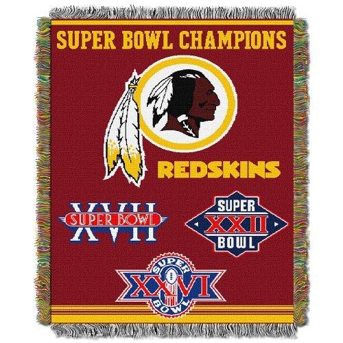 (Northwest NFL 051 Commemorative Series Washington Redskins Super Bowl Commerative 48x60 Throw)