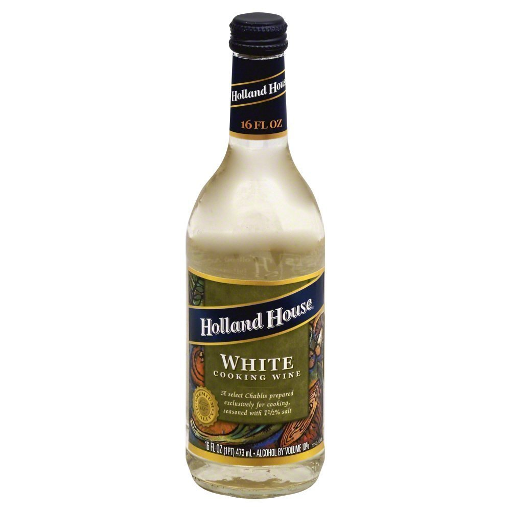 Holland House White Cooking Wine 16.0 OZ(Pack of 4)