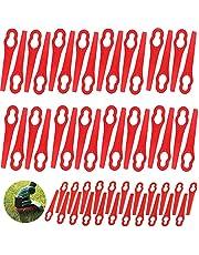 Guanyj 100 Stuks Kunststof messen voor Grasmaaiers Vervangende Plastic Messen Grastrimmer met Messen Mes voor Grastrimmer Geschikt voor FRT18A FRT18A1 ART46155 FRT20A1 Accessoires