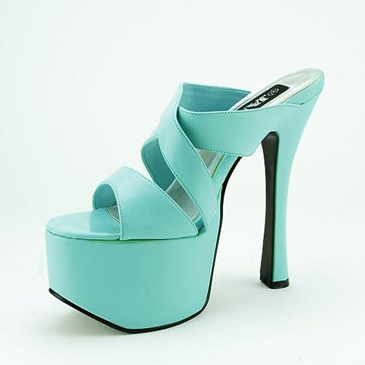 Patent Platform High Heel Sandal Shoes