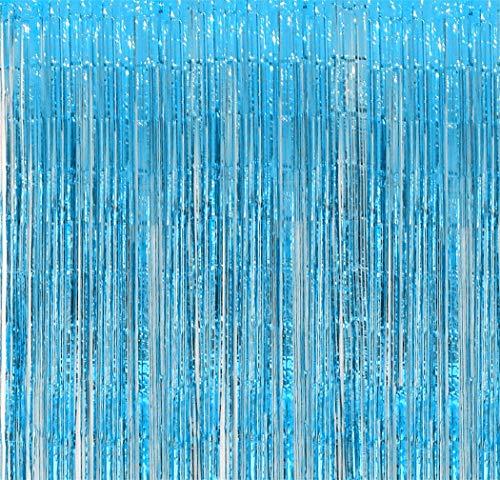 Aquamarine Foil Fringe Backdrop - Pack of 2