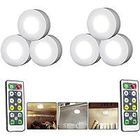DSstyles - 6 Luces LED para clóset con Mando a Distancia, luz Nocturna para iluminación