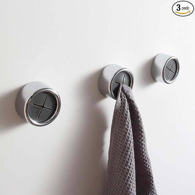 3x Self-Adhesive Push in Tea Towel Cloth Holder Hanger Wall Bathroom Kitchen~.