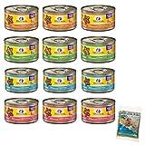wellness minced cat food - Cedar Crate Market Wellness Minced Grain-Free Wet Cat Food Variety Pack - 4 Flavors (Salmon, Tuna, Turkey, and Chicken) - 12 (3 Ounce) Cans - 3 of Each Flavor with Bonus Catnip