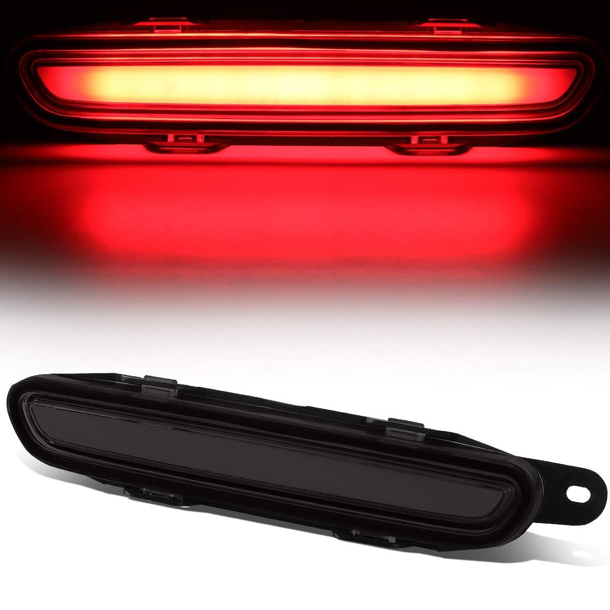 Black Housing Full LED Third 3rd Tail Brake Light Rear Cneter Stop Lamp for 06-10 Dodge Charger