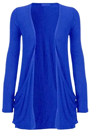 ee6a81fc4c00 Hot Hanger Femme manches longues Cardigan haut   Color - Bleu électrique    Size - 40