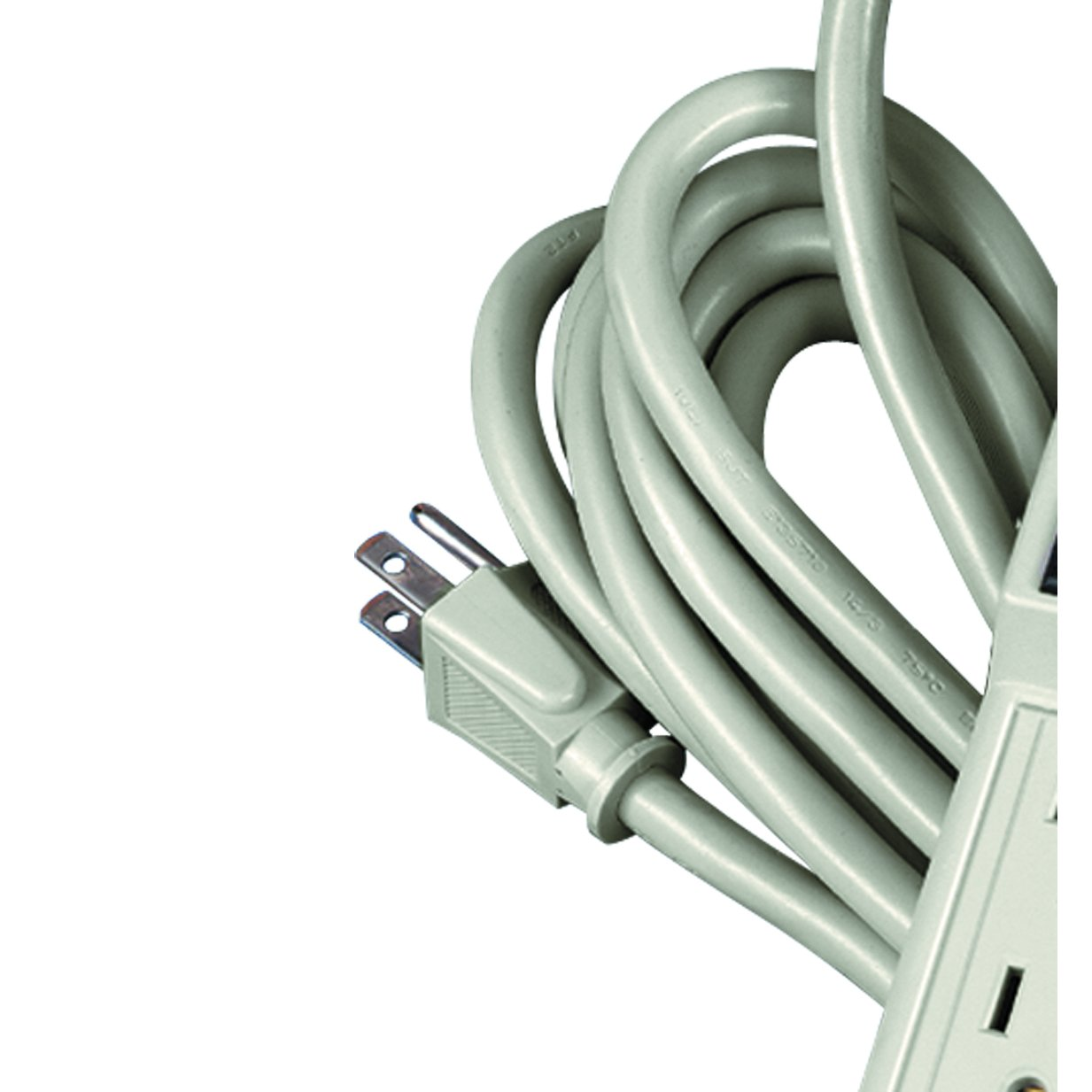 Fellowes 6-Outlet Office/Home Power Strip, 15 Foot Cord - Wall Mountable (99026)