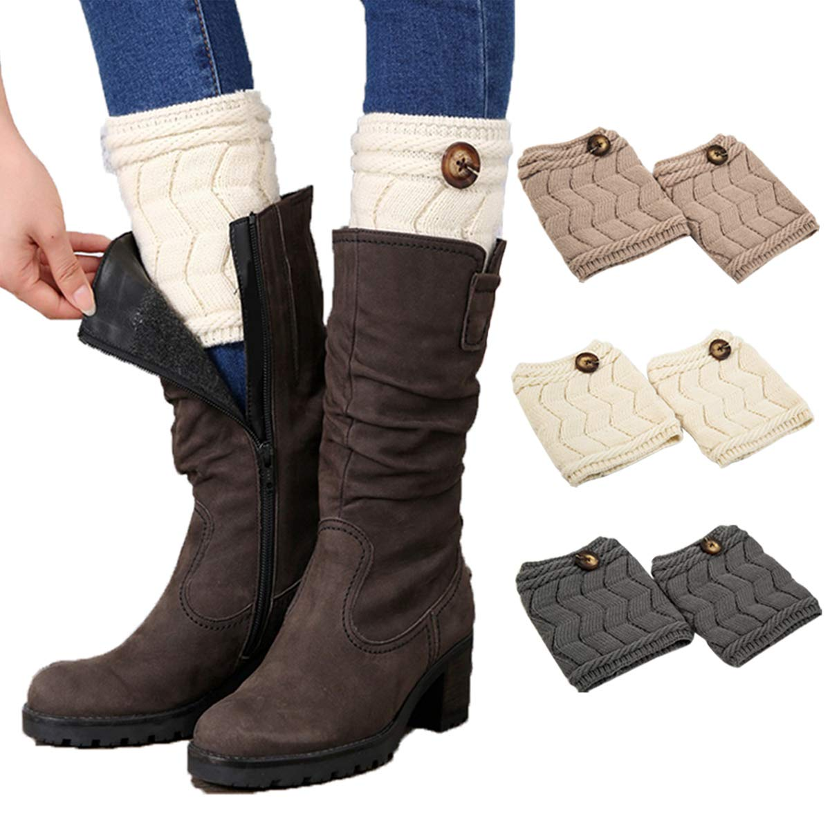 Women Bohemis Crochet Knitted Long Leg Warmers Spring Patchwork Knee High Warm Boot Socks Leg Warmers Underwear & Sleepwears