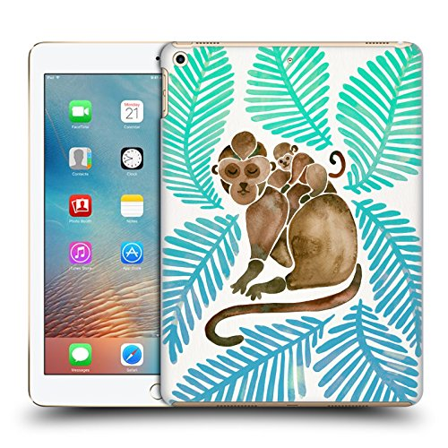 Official Cat Coquillette Turquoise Brown Monkeys Tropical Hard Back Case for iPad 9.7 2017 / iPad 9.7 - Apples Monkey
