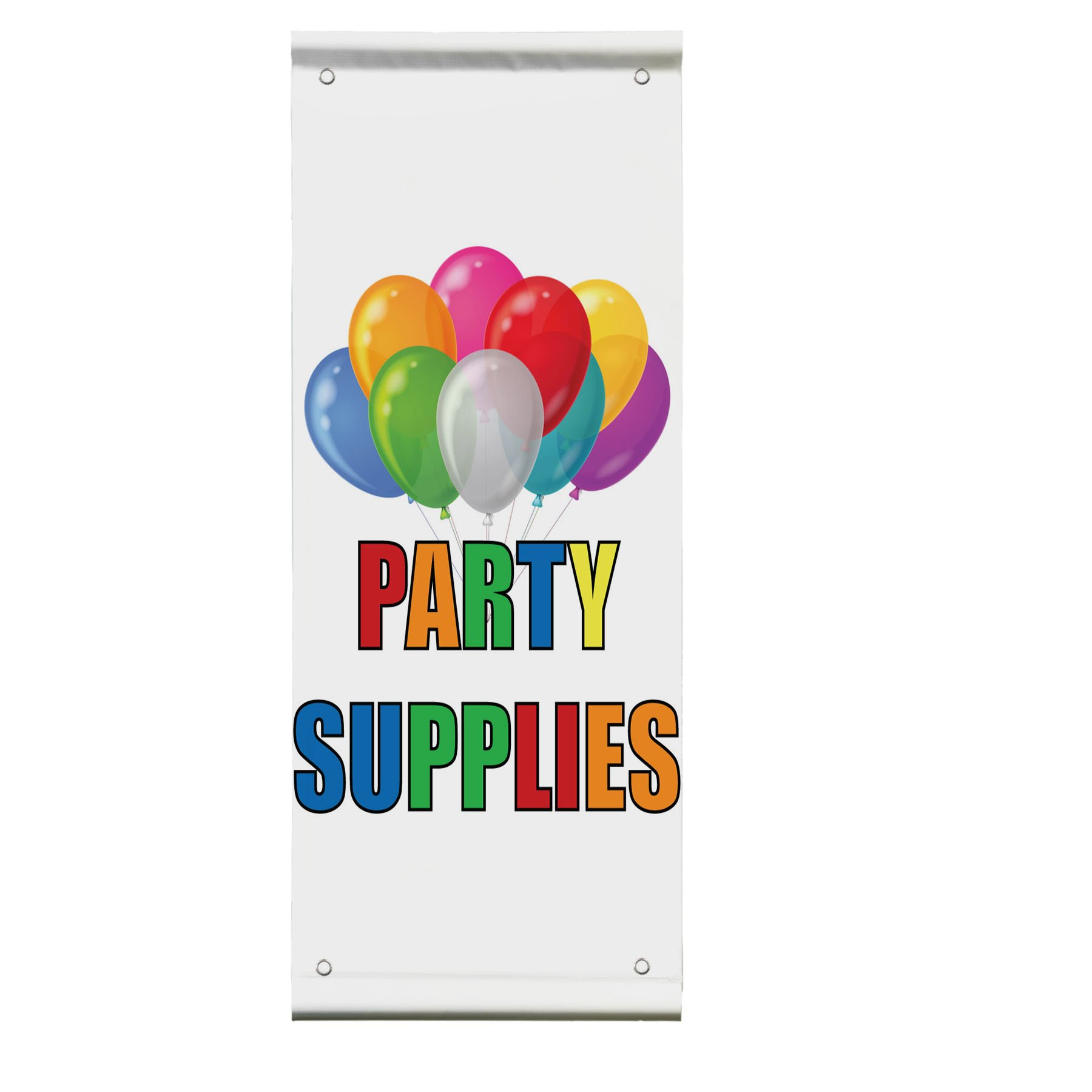 Party Supplies Double Sided Vertical Pole Banner Sign 36 in x 48 in w/ Wall Bracket