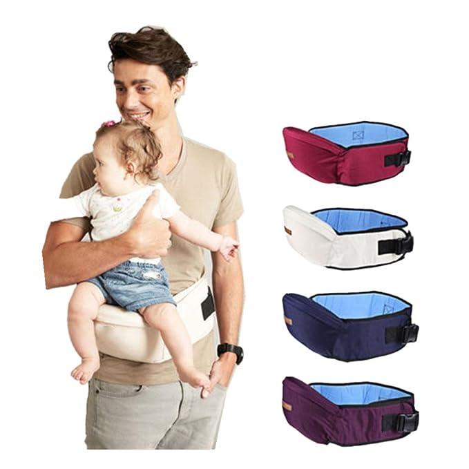 QinMM portabebés hipseat cinturón Cintura Asimiento Asiento para niños bebé y niña (Azul): Amazon.es: Ropa y accesorios