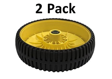 2 ruedas para 14SB 14SE 14pz ja65 jx75 am115138 John Deere cortacésped
