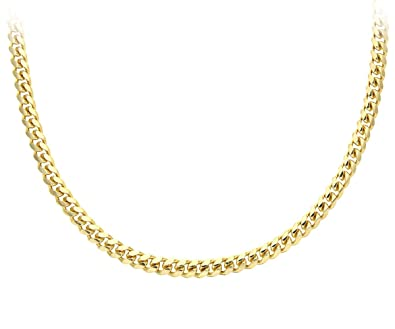 Citerna Gold Plated Silver Men's Solid Curb Chain Necklace SAC200 6NhalTw