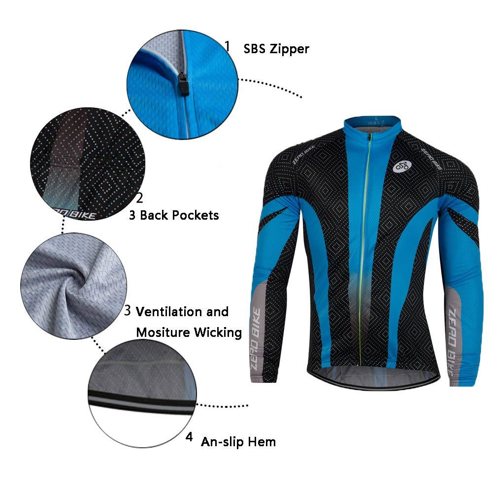 Amazon.com: ZEROBIKE - Maillot de ciclismo para hombre ...