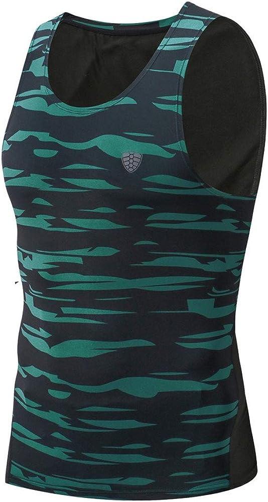 STORTO Mens Sports Tank Tops Casual Gym Yoga Fit Printed Running Tee Shirts Tops
