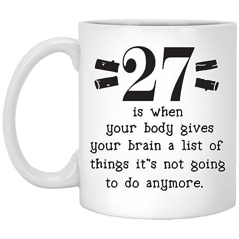 Amazon.com: Regalos de 27º cumpleaños para mujeres, hombres ...