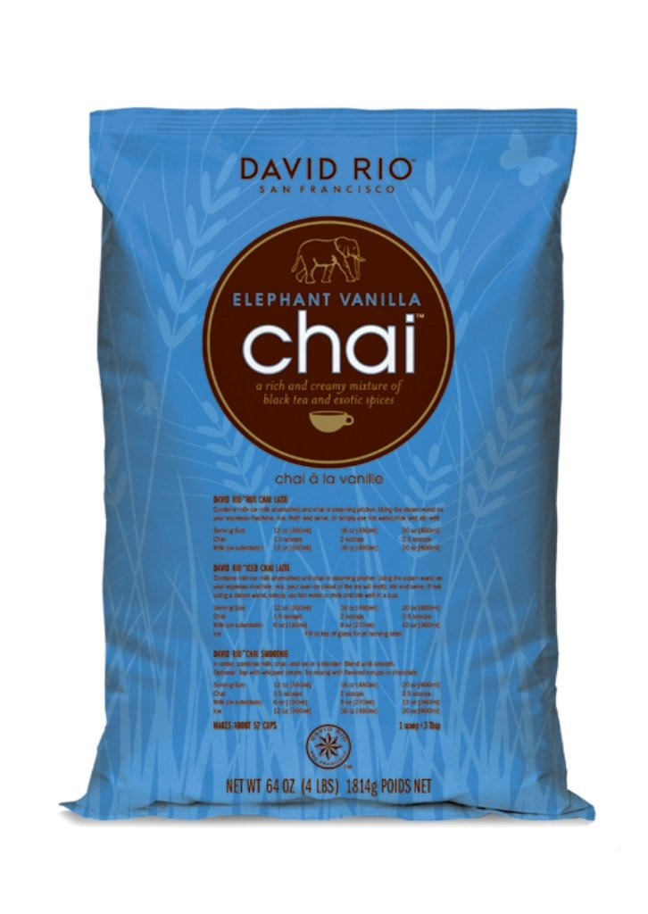 David Rio Elephant Vanilla Chai, 4 Pound
