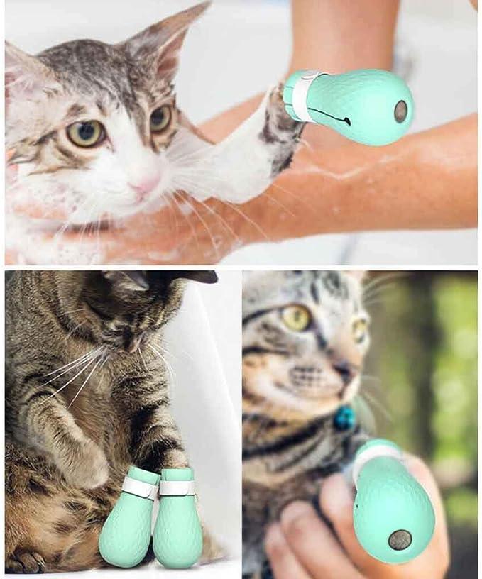 Factorys 4Pcs Zapatos Anti-arañazos para pies de Gato, Fundas de Silicona para Garras para Mascotas para bañarse, afeitarse, revisarse y Recibir Tratamiento en el Hospital de Mascotas: Amazon.es: Productos para mascotas
