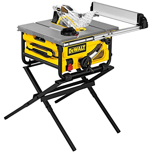 DEWALT DW745S Compact Job Site Table Saw with Folding Stand