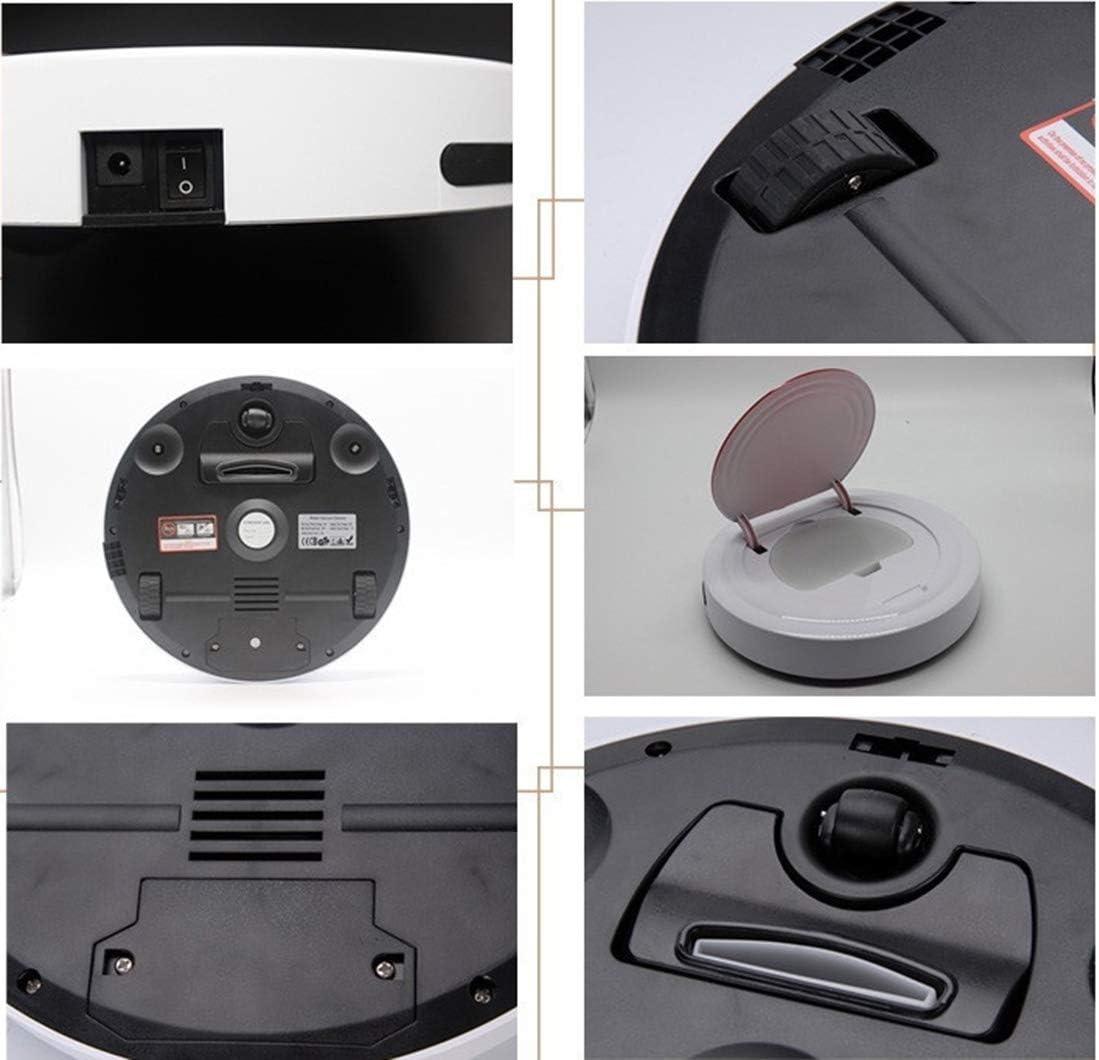 Gmjay Robot Aspirateur Maison Robot Aspirateur Automatique de Nettoyage Automatique Super Mini Machine de Balayage Intelligente Peut Être Équipé d\'une Vadrouille black