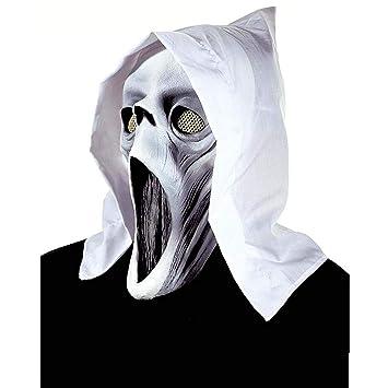 PICCOLI MONELLI Máscara Fantasma Fantasma con Boca Fluo con Capucha Blanca