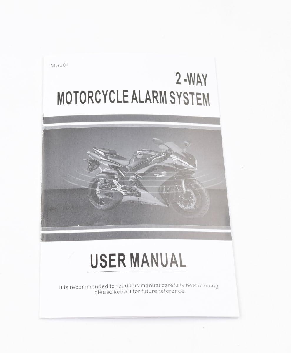 Interior Accessories CarBest 2 Way Motorcycle Alarm 2 Big LCD ...