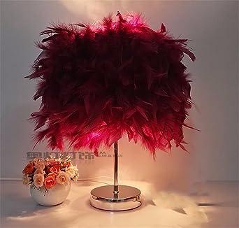 YU-K Elegante decoración de la casa Ideas lámpara de mesa cálida ...