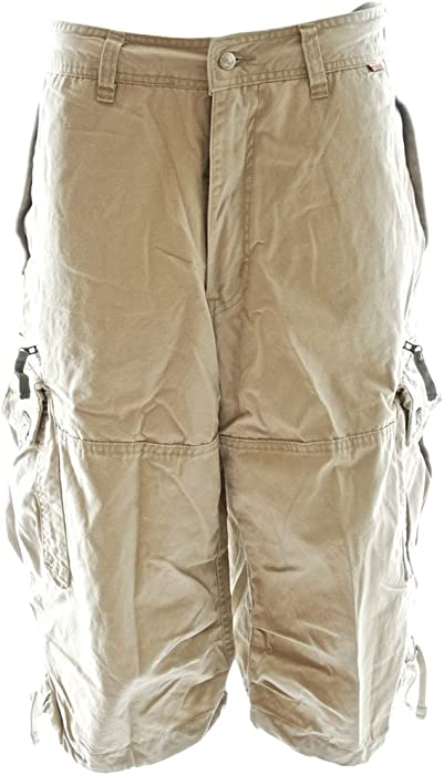 682f174b9a Molecule Men's Relaxed Fit Knee Hugger Khaki Cargo Shorts - Longer 3/4  Length Cargos