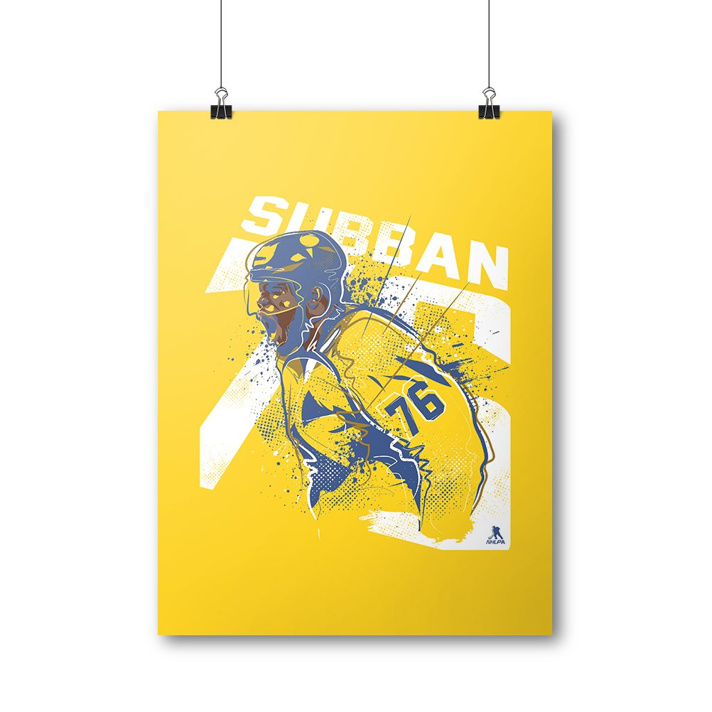 Amazon.com : 500 LEVEL P.K. Subban Cool Wall Poster For Nashville ...