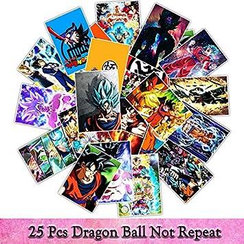 Inveroo 25Uns/Pack PVC Anime Dragon Ball Super Saiyan Calcomanías ...