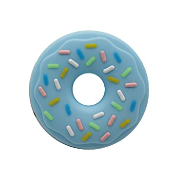 LX/_ NEWBORN TODDLER KIDS CHEW TEETHER INFANT BABY SILICONE DONUTS TEETHING TOY