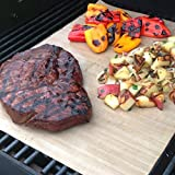 BBQ Grill Mat - Made in USA to be One of the Best Barbecue Accessories for Gas or Charcoal Grills - Reusable & Reversible