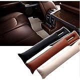 Pesp 2pcs Pu Leather Vehicle Auto Car Seat Spacer Gap Filler Pad Soft Padding Interior Seat Hand Brake Gap Filler Pad (Cream)