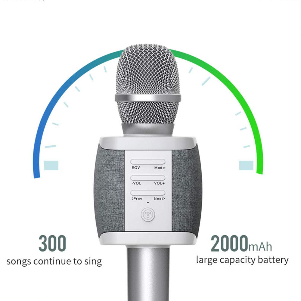 TOSING Wireless Karaoke Microphone for Kids Teenagers Family Adults,4 in 1 Portable Handheld Home Party Bluetooth Karaoke Speaker Machine,Top Birthday Gifts for Girls 2019,Best Present Toys for Kids by TOSING (Image #4)