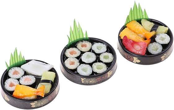 Amazon.es: Baoblaze Escala 1:6 Miniatura Comida de Sushi de Plato ...
