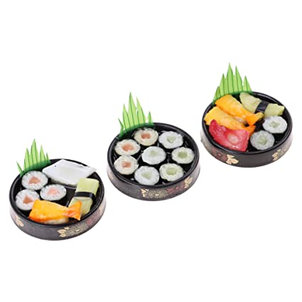 Sushi Japanese Food on Plate Dollhouse Miniatures Supply Deco Barbie 2