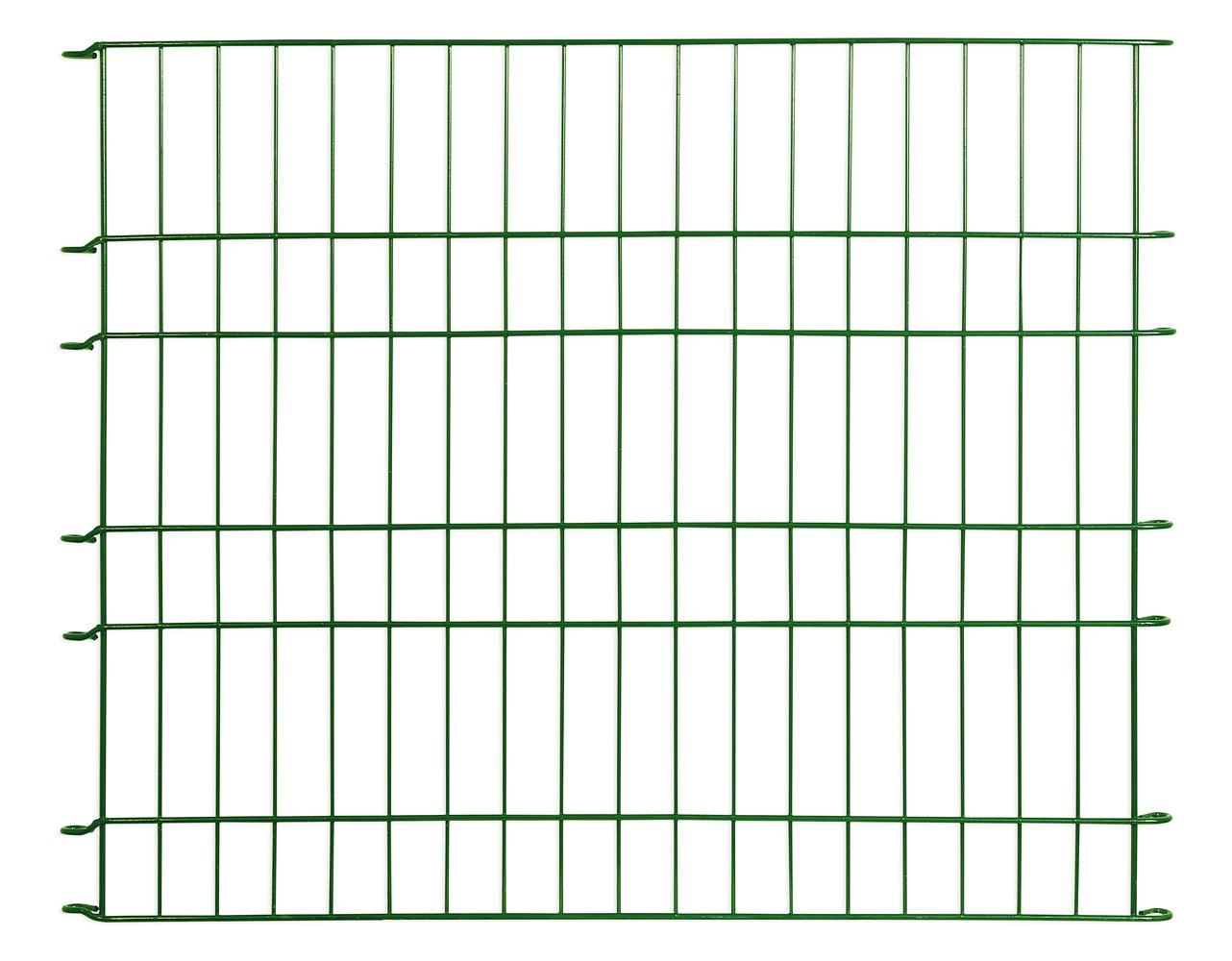"Massiv Metall Zaun Set ""Balkhausen"" 11 tlg – 485 x 80 cm grün"