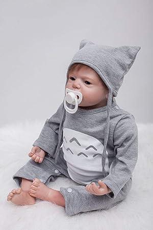 ZIYIUI Muñecas Reborn Bebé 22 Pulgadas 55cm Suave Vinilo de Silicona Bebe Reborn niño Realista Reborn Dolls Hecho a Mano Bebés Recién Nacido ...