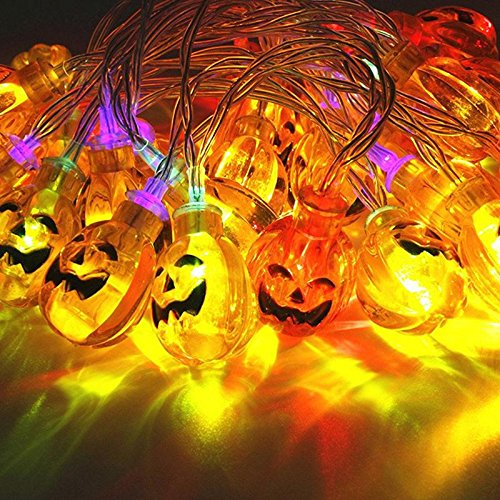 TRNS Halloween Pumpkin String Lights 30 LEDs 10.33 ft Halloween Jack-O-Lantern Pumpkin Lights for Halloween Christmas Decorations - Battery Operated - Indoor Outdoor Light Lamp Pvc Pipe Christmas Tree Plans