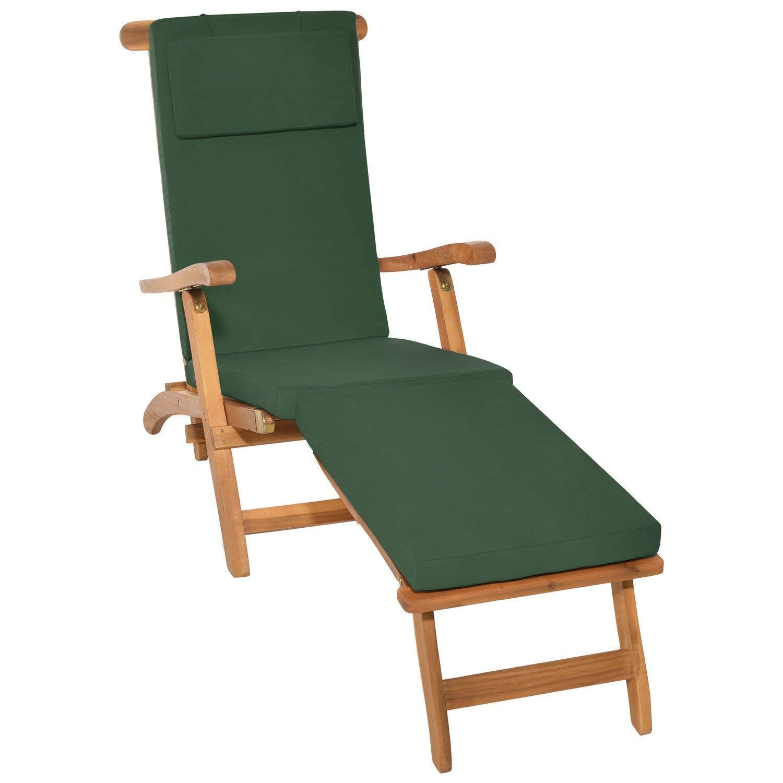 DetexR Coussin Pour Transat Chaise Longue De Jardin Rouge 195 Cm Rembourr Relax Deuba