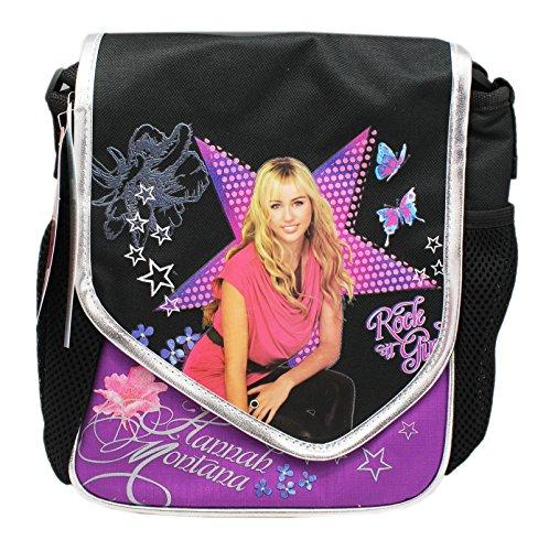 Disney's Hannah Montana Secret Star Black/Violet Knapsack Style Lunch Bag