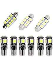 For Volkswagen Golf GIT Dome Interior Led Lights Bulbs Kit Accessories Ultra Bright White 9Pcs