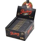 Kaimus Papeles de Fumar Enrollables de Alta Calidad 1 Pieza de 33 Hojas Filtros para Tabaco de Liar 110x45 mm (Negro)