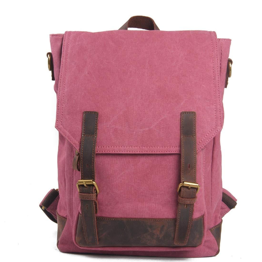 WEATLY Männer Frauen Rucksack Daypack Daypack Daypack Wasserdichte Vintage Reißverschluss Leinwand 14 Zoll Laptop Student Outdoor Shopping (Farbe   Grün) B07P711XQN Ruckscke Bestseller df6ab7