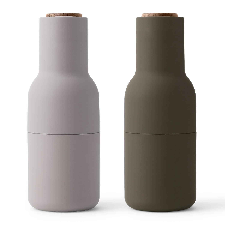 MENU Bottle Grinder Set, Nature Notes with Walnut Lid by Menu